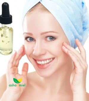 24K Gold Organic Argan Oil Skin Serum for youthful skin with Neroli, Carrot oil, Bois de rose, lemon