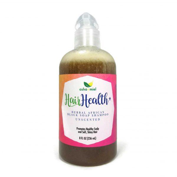 8 oz Hair Health+ African Black Soap Shampoo Hair Growth