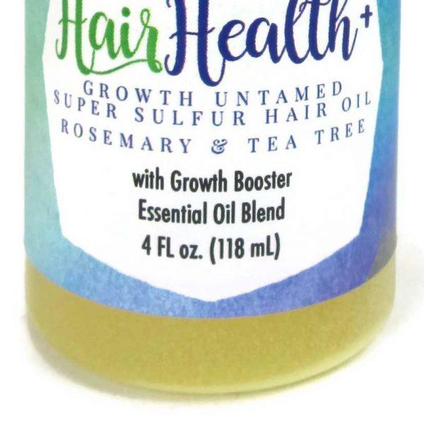 Growth Untamed Super Sulfur Hair Oil - Rosemary & Tea Tree, 4 oz, Hair Growth, Castor hair oil