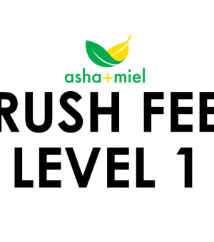 "Graphic that reads ""Rush Fee Level 1"""