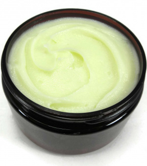 Shea, Olive and Grapeseed Butter, Body Butter, Olive Butter, side/top view