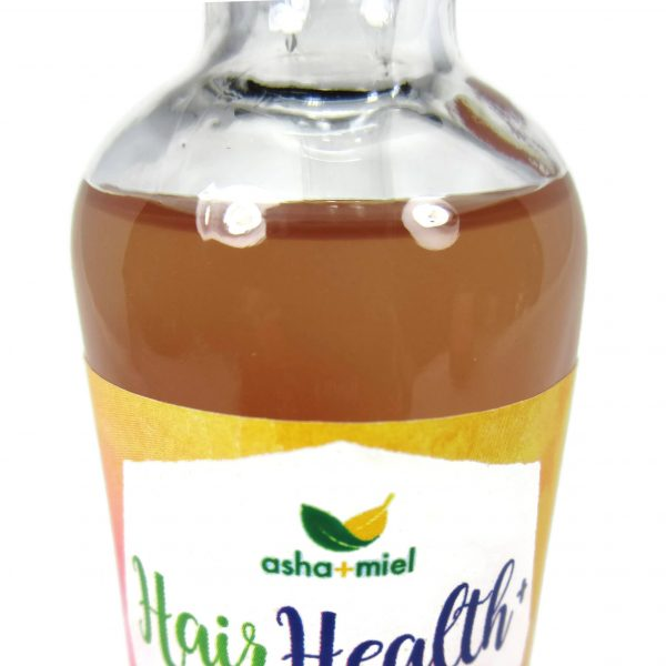 Super Concentrated Ayurvedic Hibiscus Oil, Close up photo of bottle