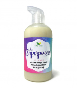 The Superpowers 10-Herb Ayurvedic Conditioning Shampoo, Cowash, Natural Hair Cleanser, herbal hair wash
