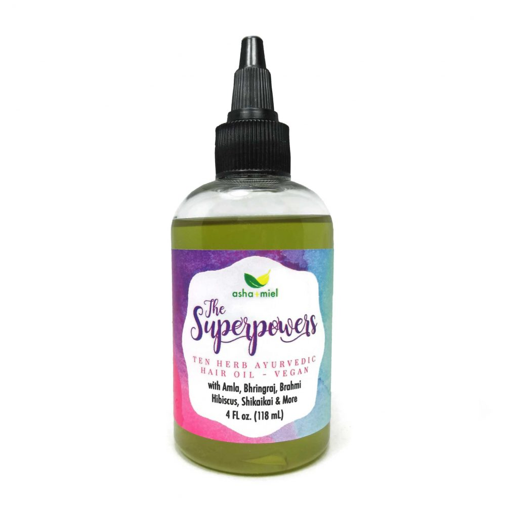 VEGAN The Superpowers Ayurvedic Hair Growth oil, Growth Serum, Amla oil, 10 Herb Coconut hair oil