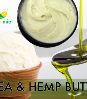 Whipped Shea and Hemp Butter, Whipped Hair Butter, Body Butter, Shea Butter