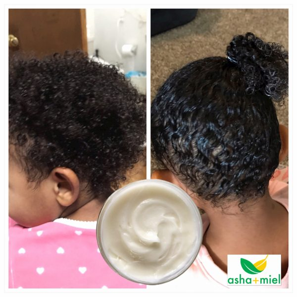 Before and After; Effects of Argan Curl Creme on Child's Head