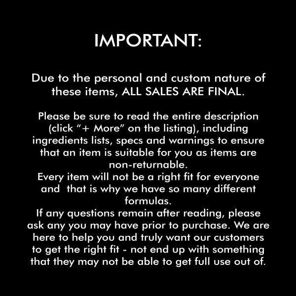 Disclaimer: All Sales Final