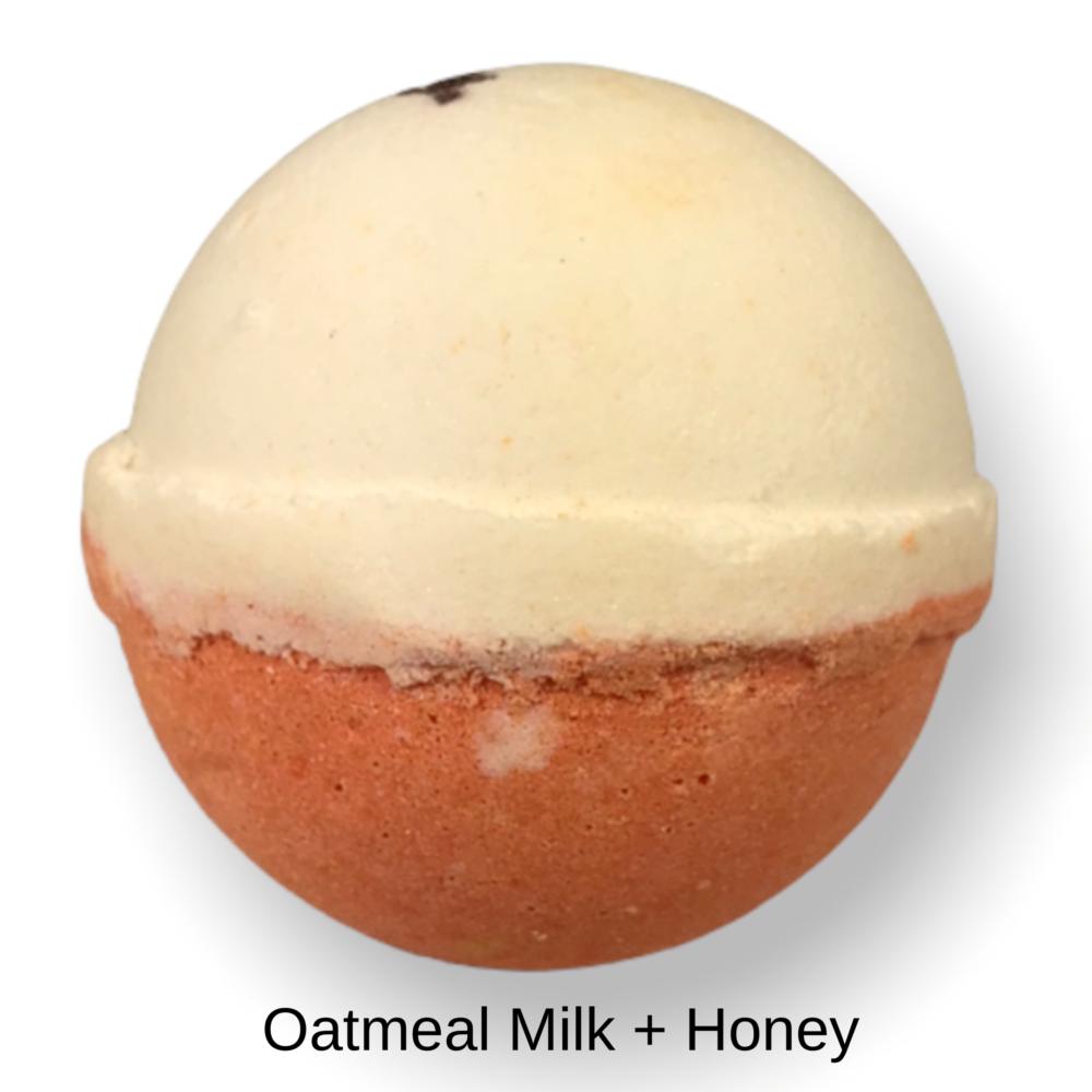 Bath Bomb - Oatmeal, Milk and Honey, Side View