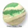Bath Bomb - Green Clover and Aloe, Side View