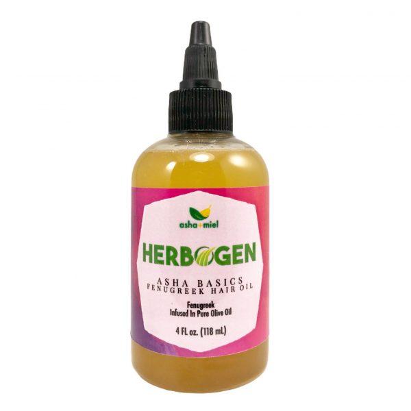 4 ounce bottle of Asha Basics Fenugreek Hair Growth Oil