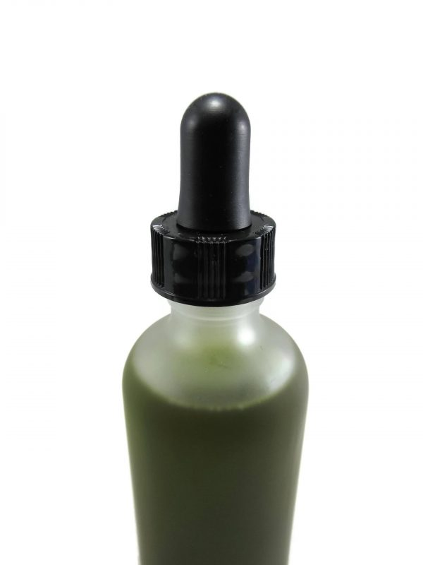 Moringa Miracle Hair Oil, 2 ounce Glass Dropper Bottle , close up photo of top