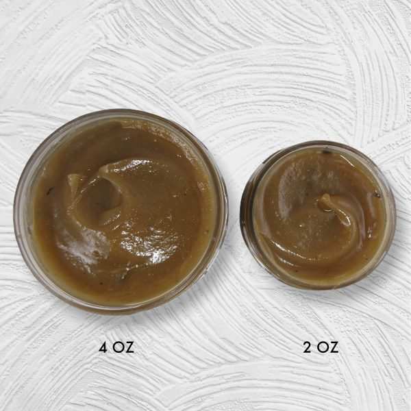 EdgeGenesis Fenugreek Herbal Hair Jelly, Top view comparison of 2 and 4 ounce size jars
