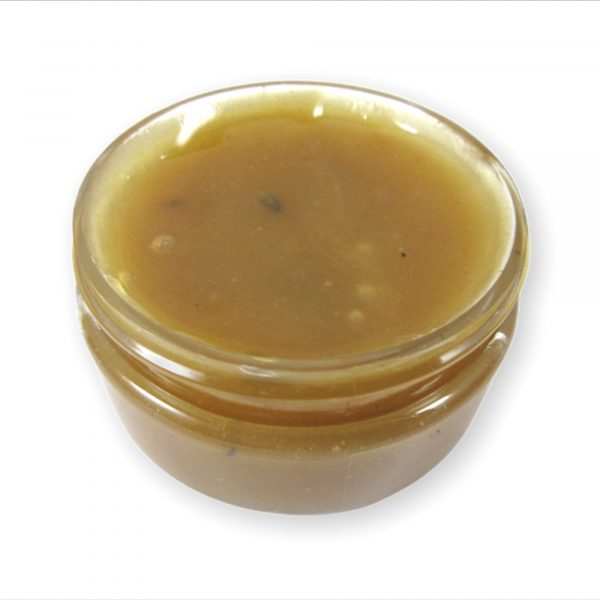 EdgeGenesis Fenugreek Herbal Hair Jelly, View of sid and top of the jar with no lid