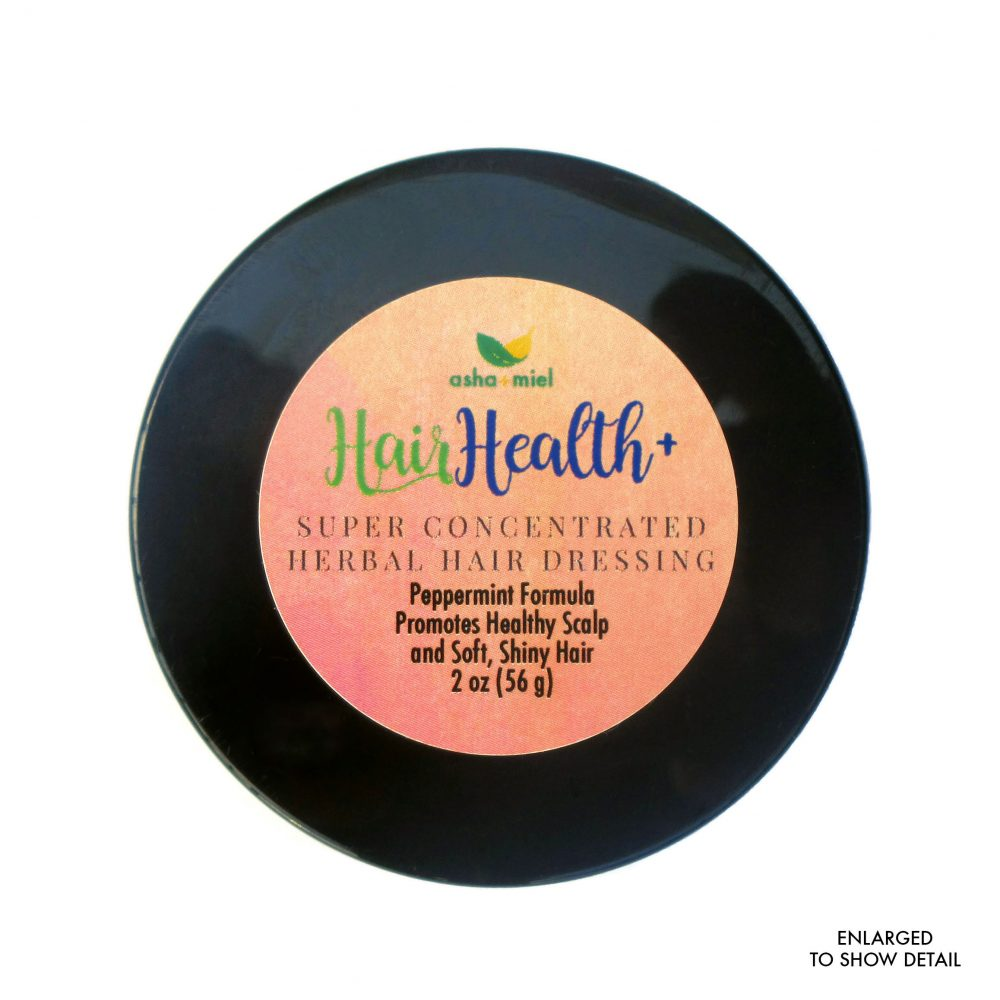 Super Concentrated Herbal Hair Jelly Peppermint Formula, 2 oz jar with label