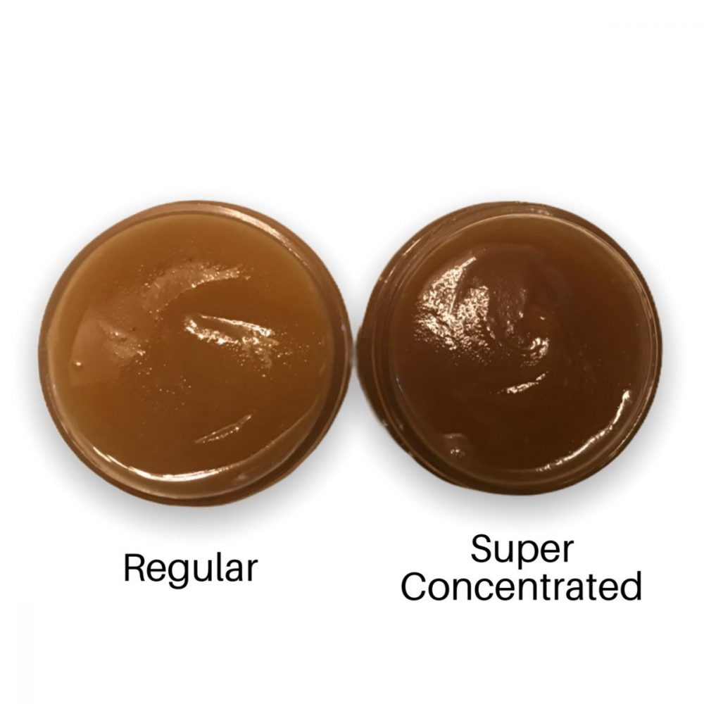 Super Concentrated Herbal Hair Jelly, Comparison photo of Regular and Super Concentrated