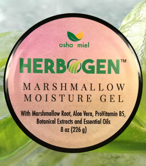 Marshmallow and Aloe Herbal Moisturizing Styling Gel, Detangler, Detangling, Provitamin B5