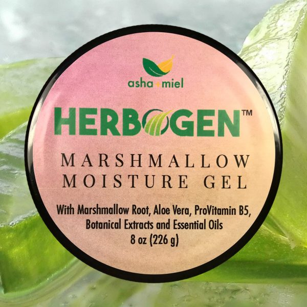 Marshmallow and Aloe Herbal Moisturizing Styling Gel, Detangler, Detangling, Provitamin B5