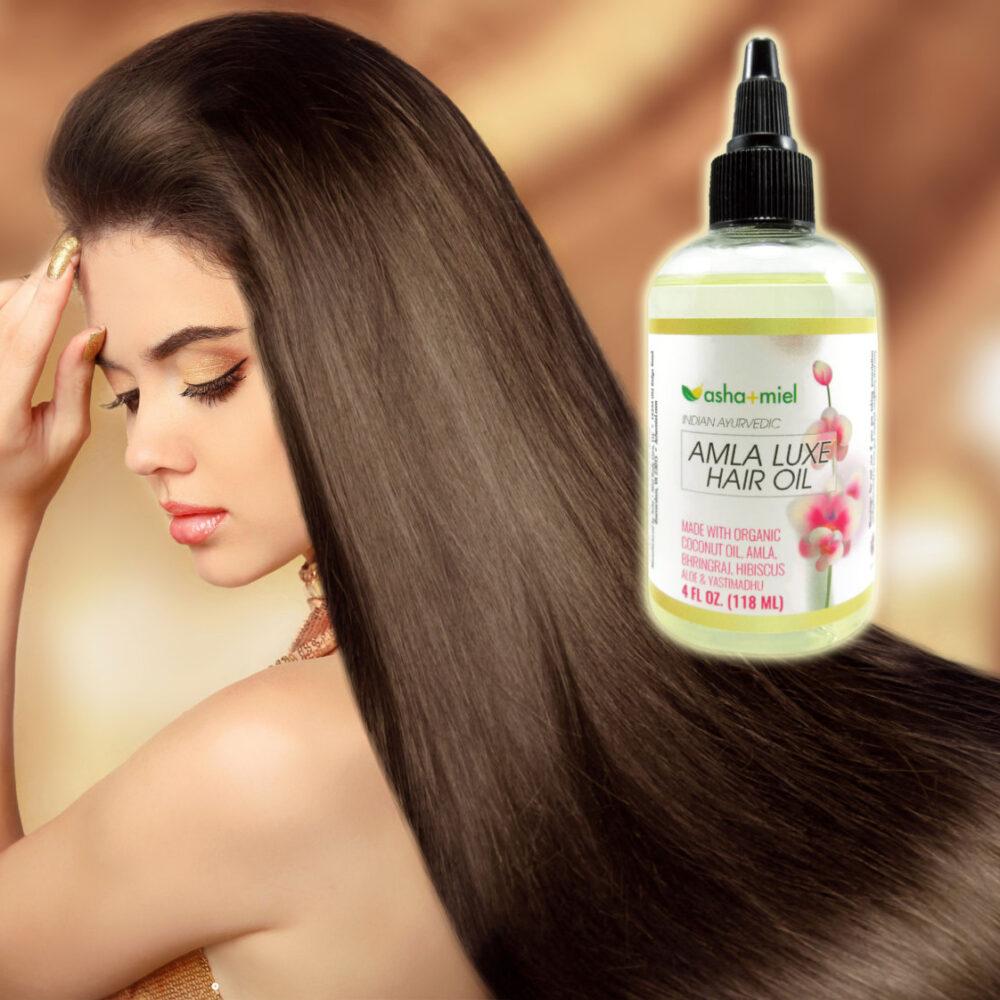 Amla Luxe: Amla oil, Bhringraj, Hibiscus, Aloe & Licorice Coconut oil for hair growth